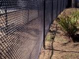 Black Vinyl 1 Inch Chainlink Fence