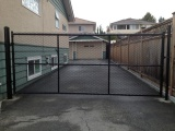 black-powder-coated-swing-gate