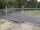 chain-link-double-swing-gate