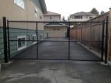 black-powder-coated-swing-gate