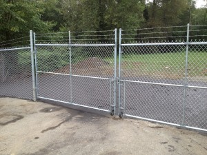 Chain-link Double-Swing Gate