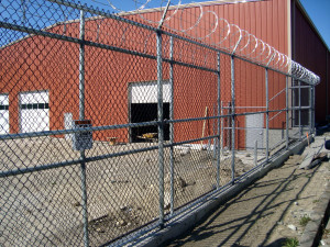 Chain-link Fence with Razor&Barb Wire