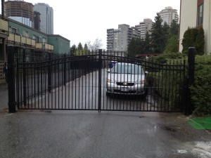 Steel Picket Double-Swing Gate