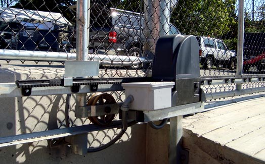 Automatic chain link fence gate opener