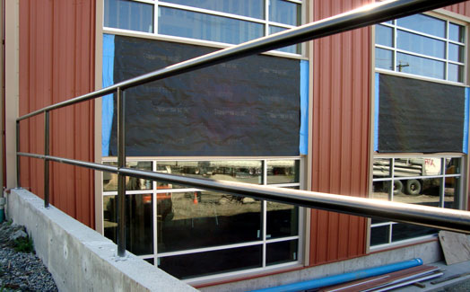 Safety security steel railing