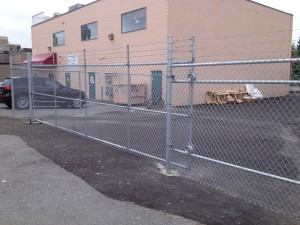 Chain-link Sliding Gate - Vancouver QS Fencing Company